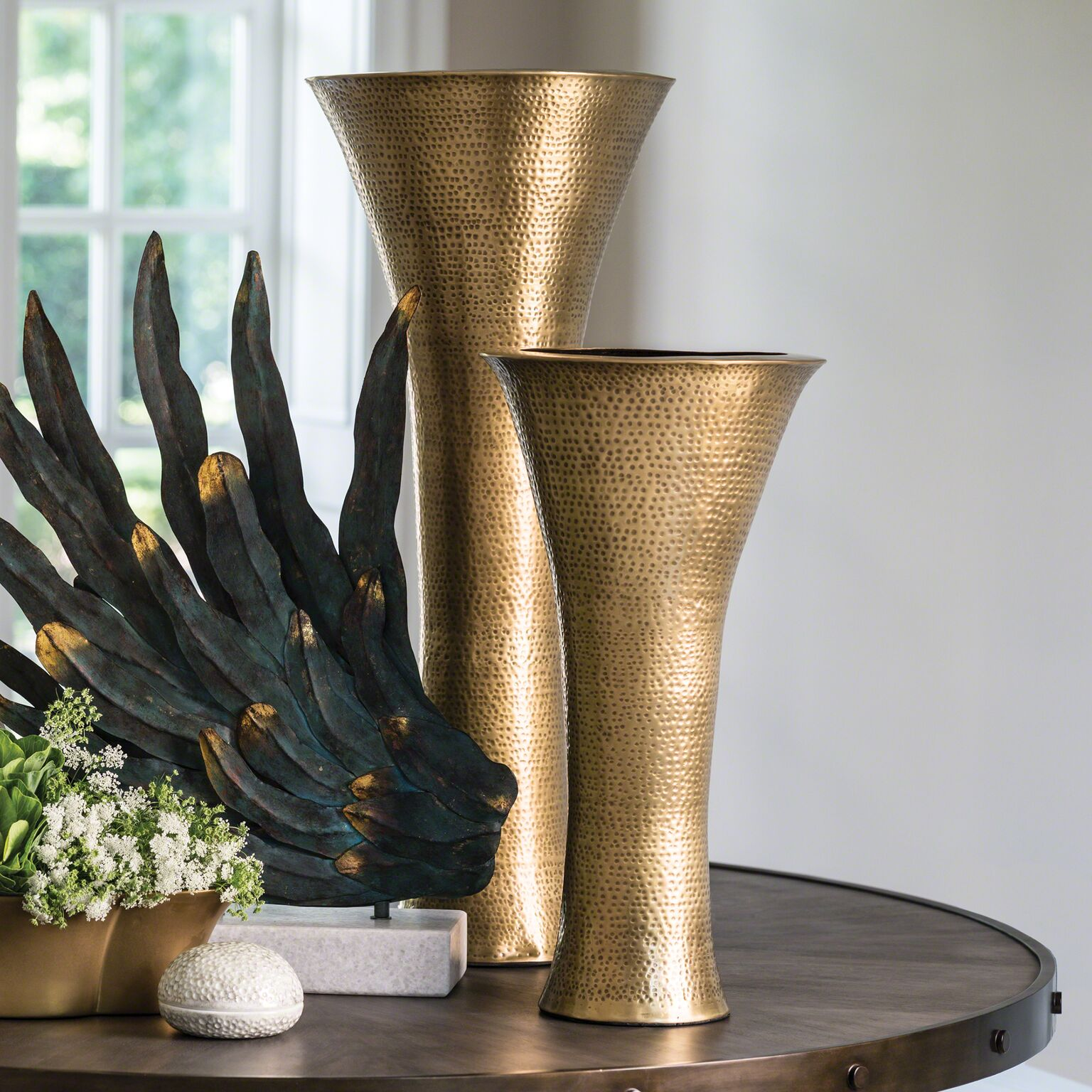 Vase - Tall Brass w/rush fee