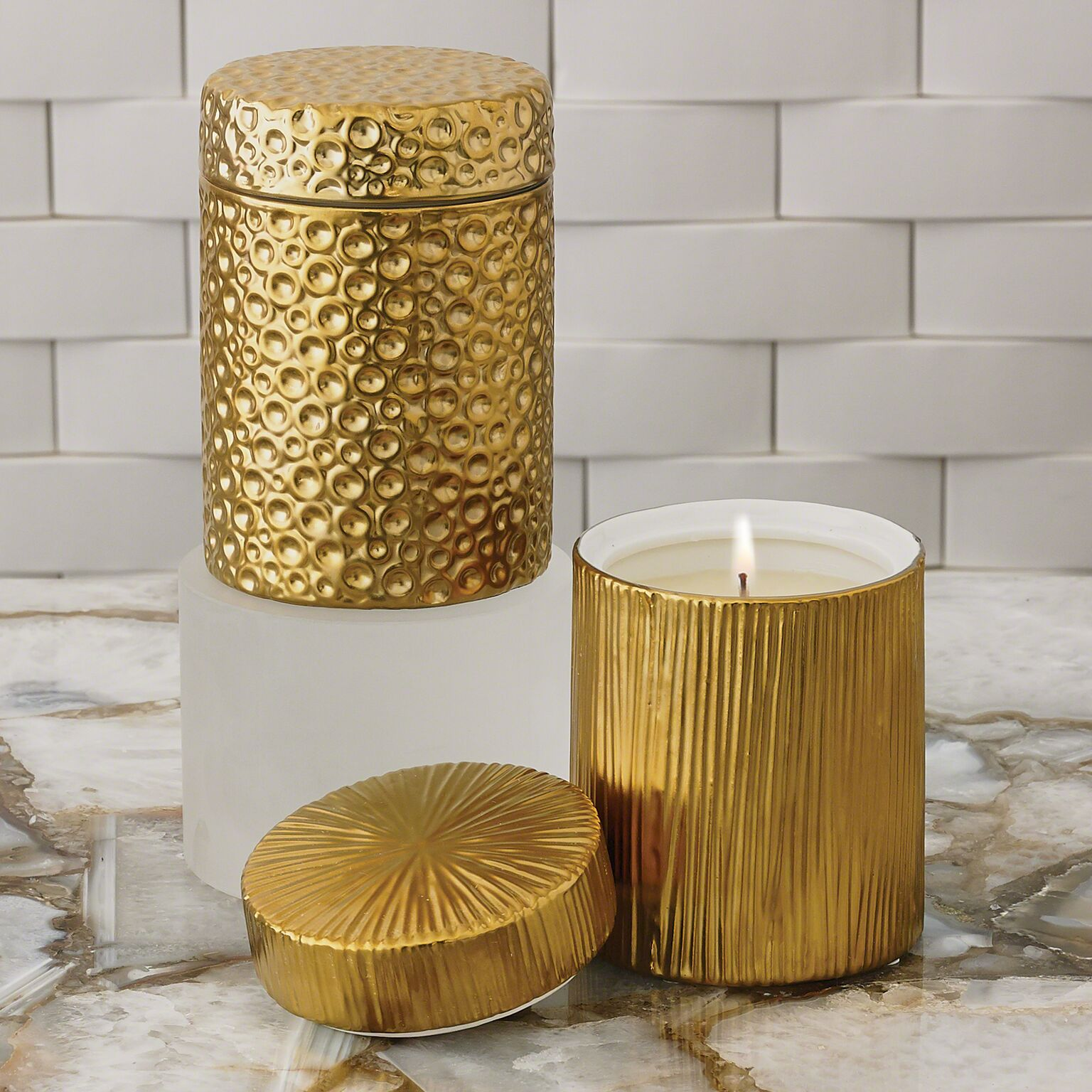 Gold Ocean Candle