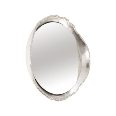 Broken Egg Mirror in Silver Leaf by Dann Foley