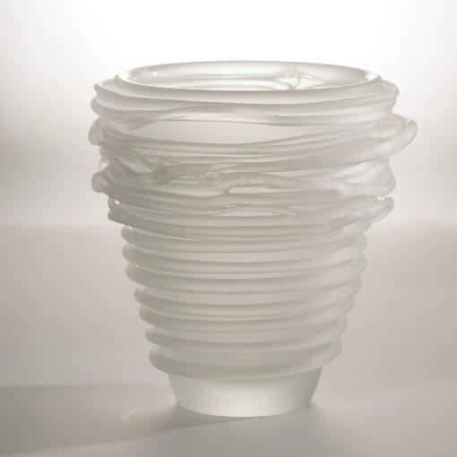 Frosted Glass Tornado Vase