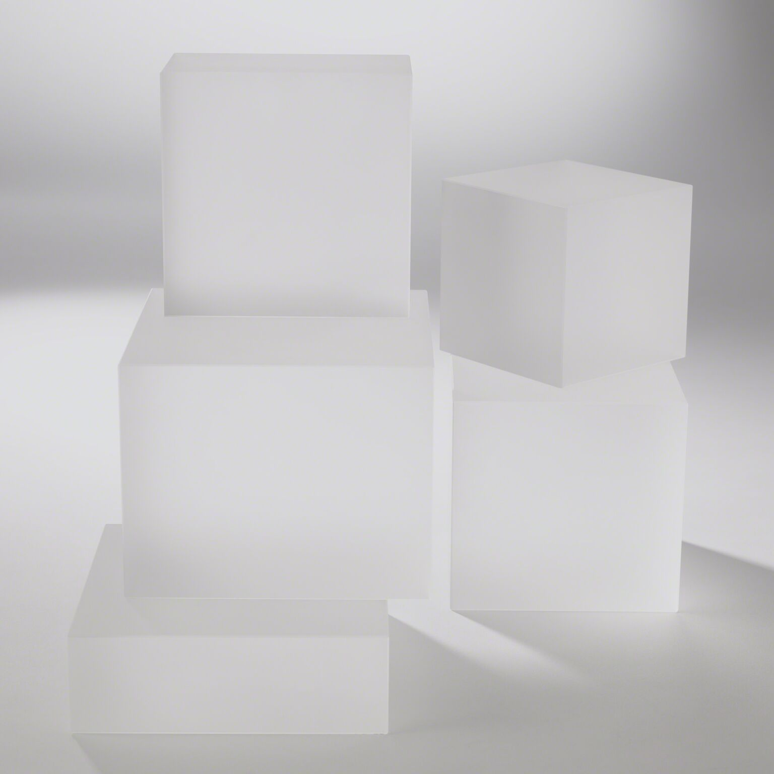 Frosted Glass Cube Riser - X-small